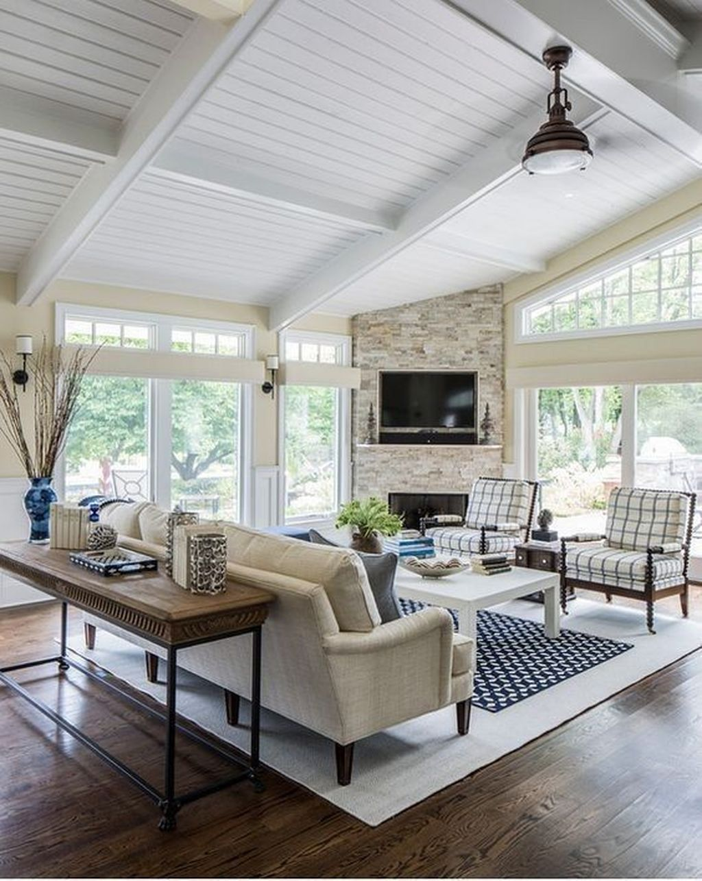 Stunning Corner Fireplace Design For Living Room 29