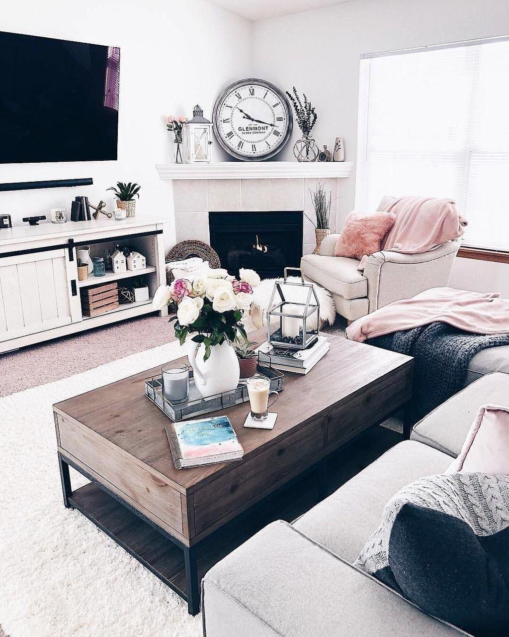 Stunning Corner Fireplace Design For Living Room 33