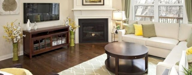 Stunning Corner Fireplace Design For Living Room 39