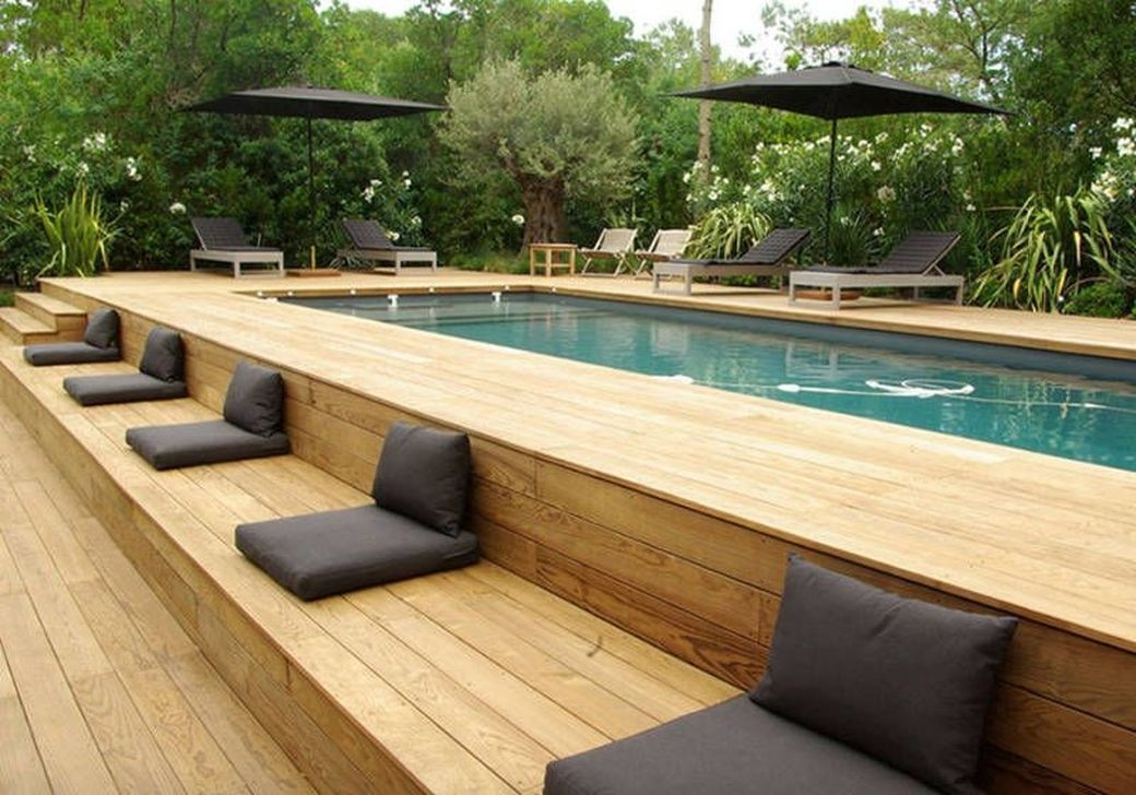 Totally Difference Pool Seating Ideas To Beautify Your Backyard 14