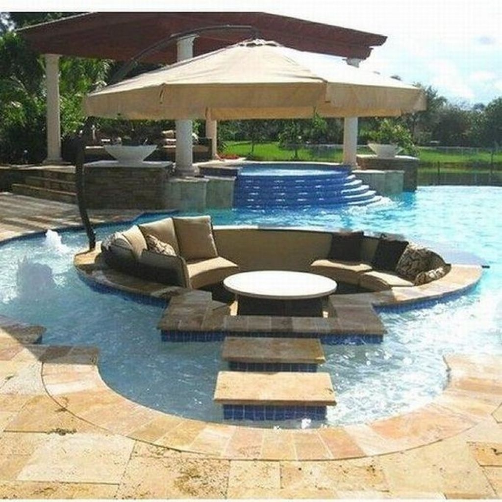 Totally Difference Pool Seating Ideas To Beautify Your Backyard 31