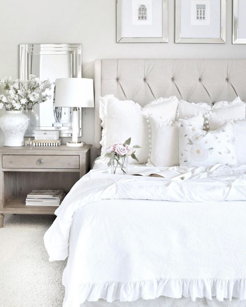Fabulous White Bedroom Ideas To Make Your Sleep Comfortable 03