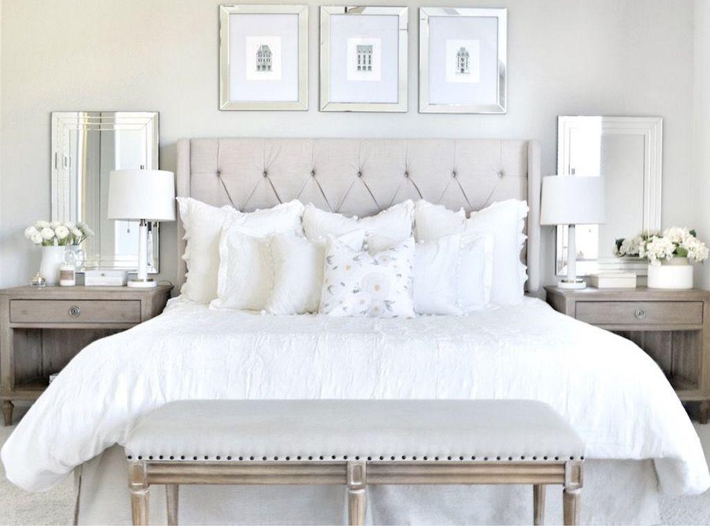 Fabulous White Bedroom Ideas To Make Your Sleep Comfortable 13