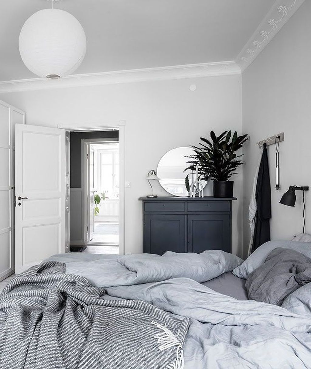 Fabulous White Bedroom Ideas To Make Your Sleep Comfortable 16