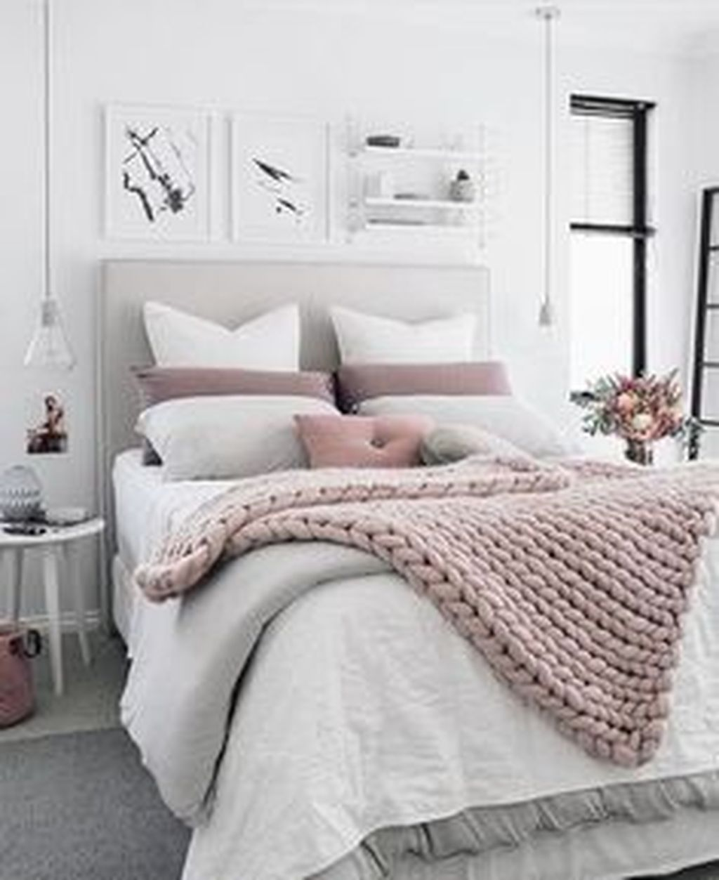 Fabulous White Bedroom Ideas To Make Your Sleep Comfortable 26