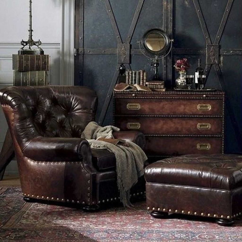 Gorgeous Industrial Living Room Design And Decoration Ideas 18