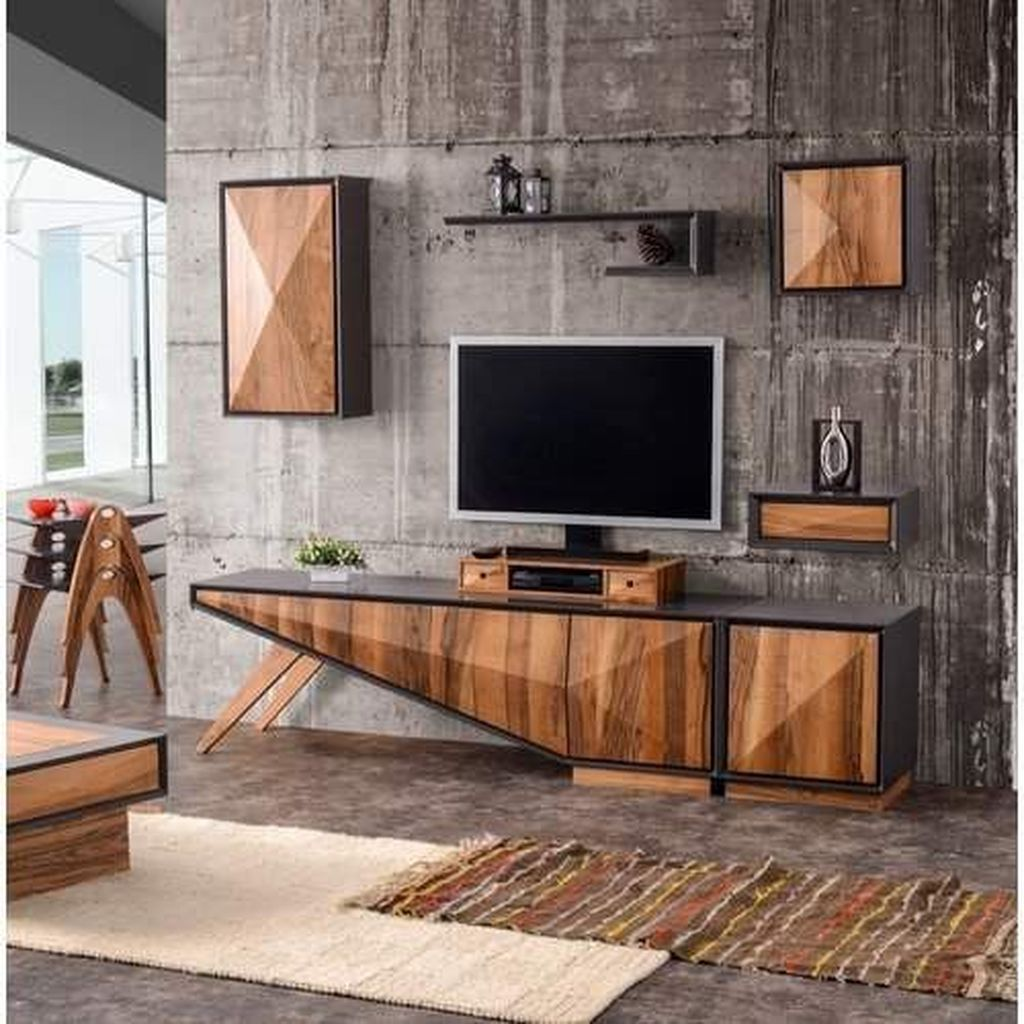 Gorgeous Industrial Living Room Design And Decoration Ideas 20