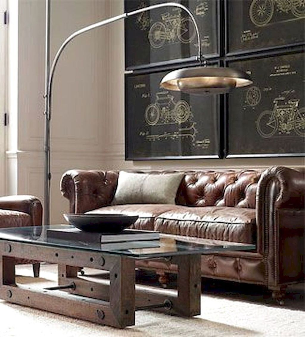 Gorgeous Industrial Living Room Design And Decoration Ideas 25