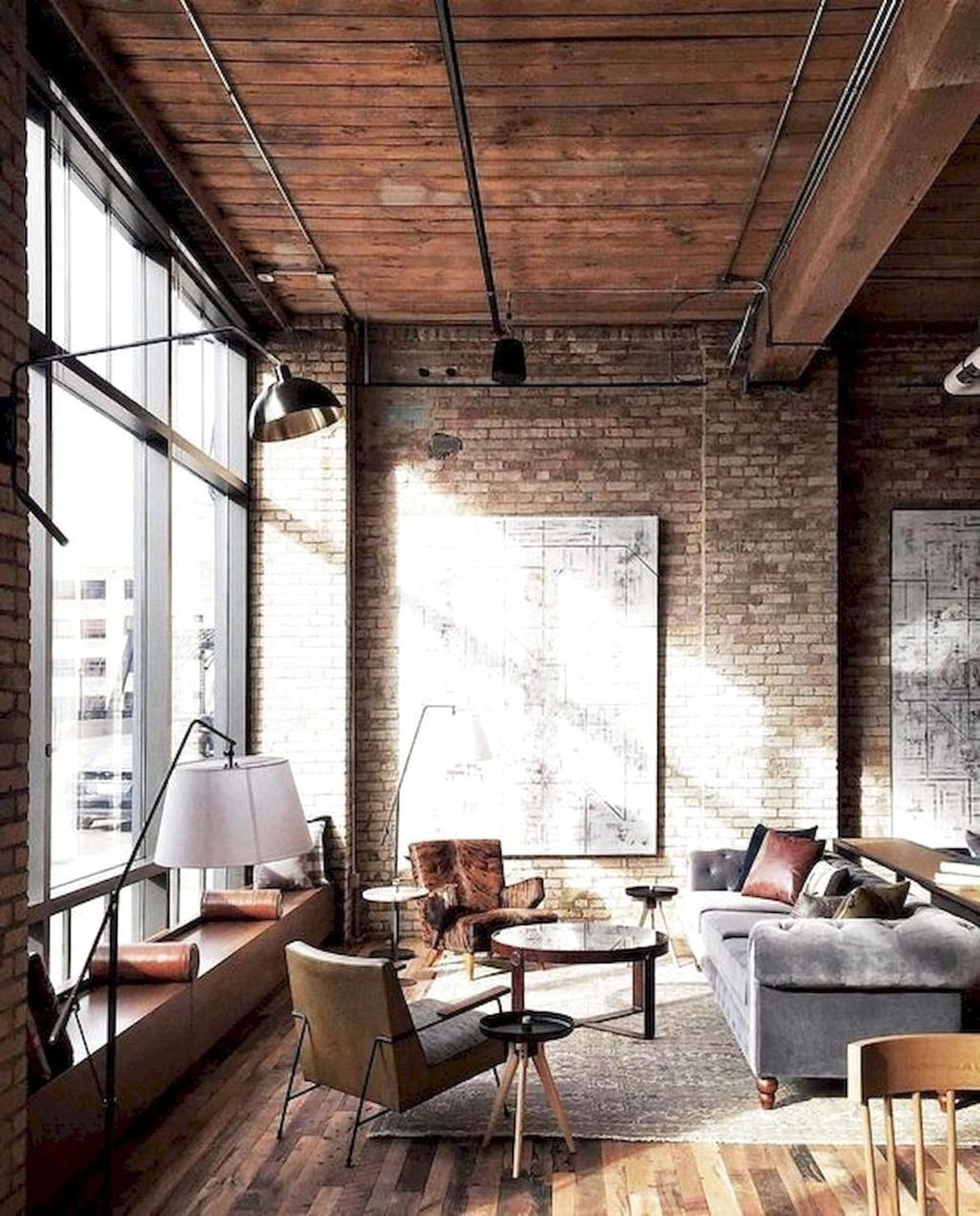 Gorgeous Industrial Living Room Design And Decoration Ideas 29