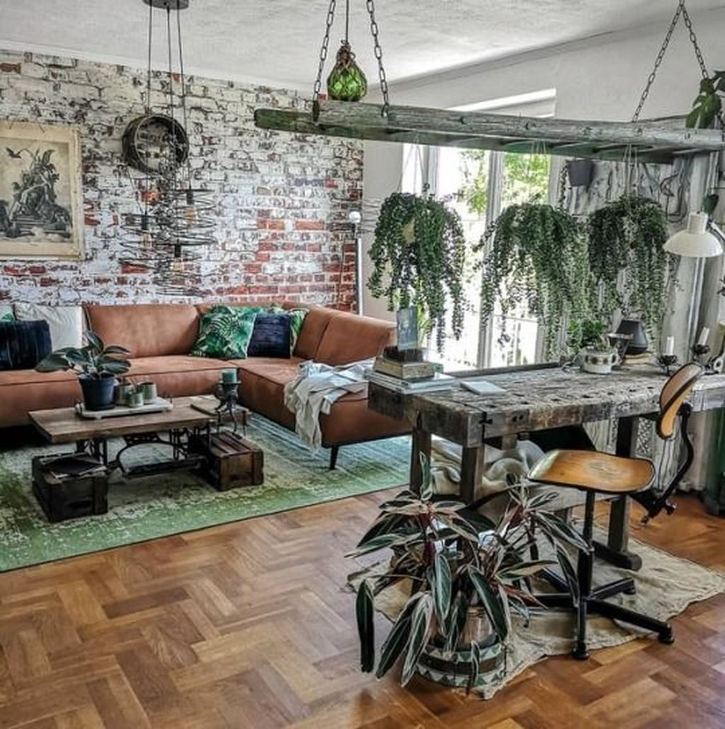 Gorgeous Industrial Living Room Design And Decoration Ideas 31