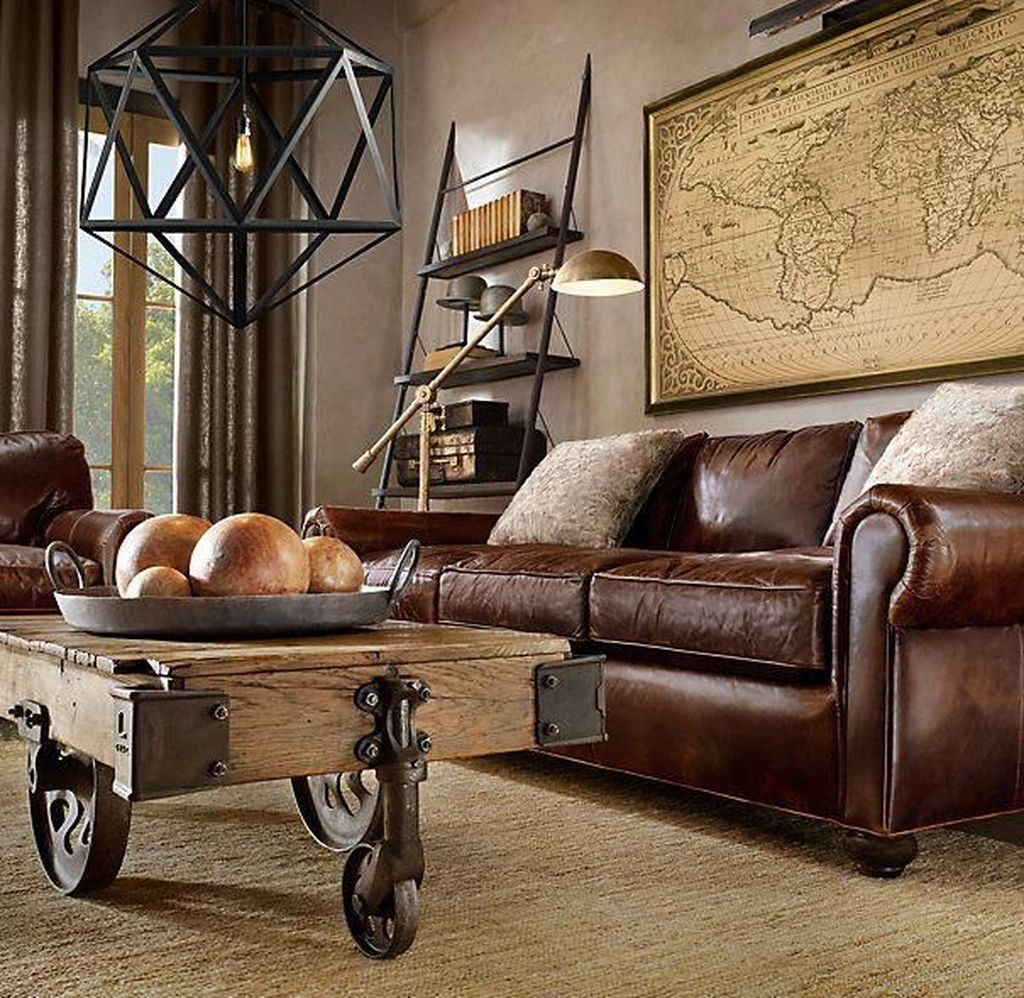 Gorgeous Industrial Living Room Design And Decoration Ideas 33