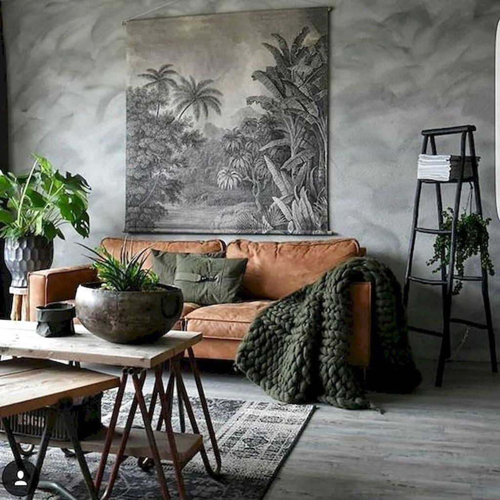 Gorgeous Industrial Living Room Design And Decoration Ideas 34