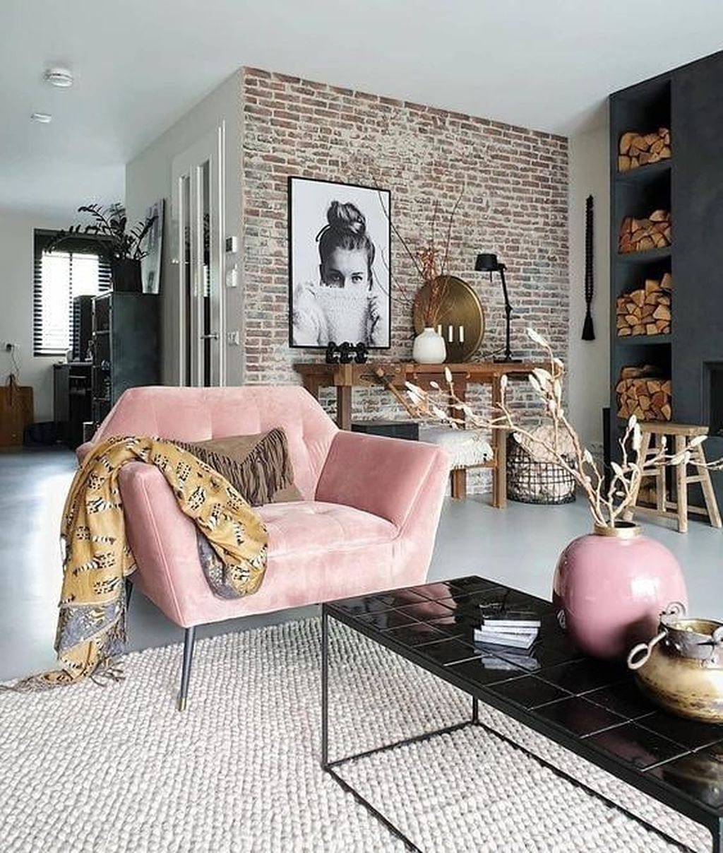 Gorgeous Industrial Living Room Design And Decoration Ideas 35