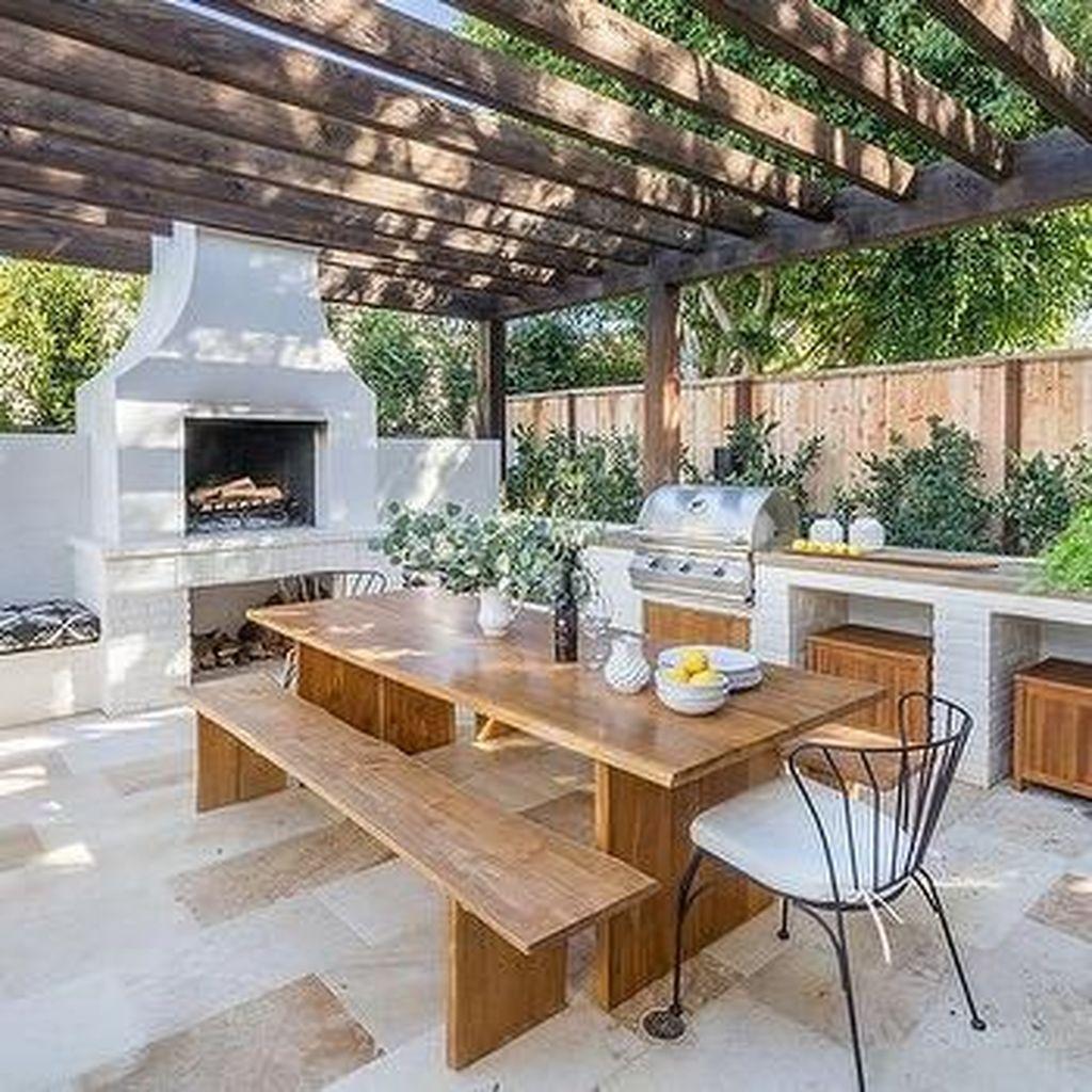 Inspiring Outdoor Dining Table Design Ideas 19