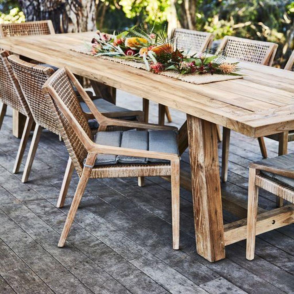 Inspiring Outdoor Dining Table Design Ideas 31