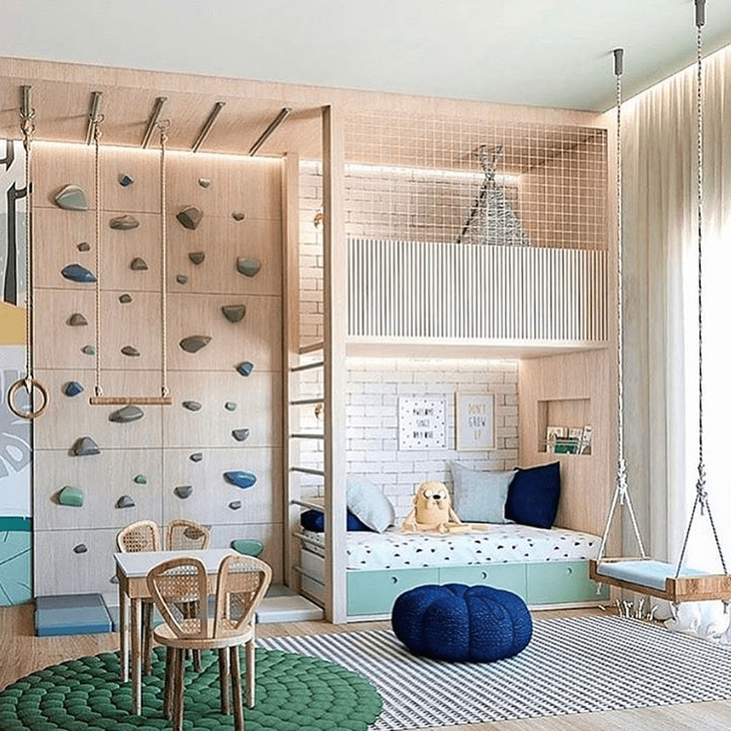 Nice Playroom Design Ideas For Your Kids 16