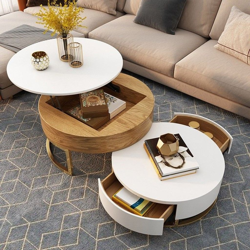 Stunning Coffee Table Design Ideas To Decorate Your Living Room 26