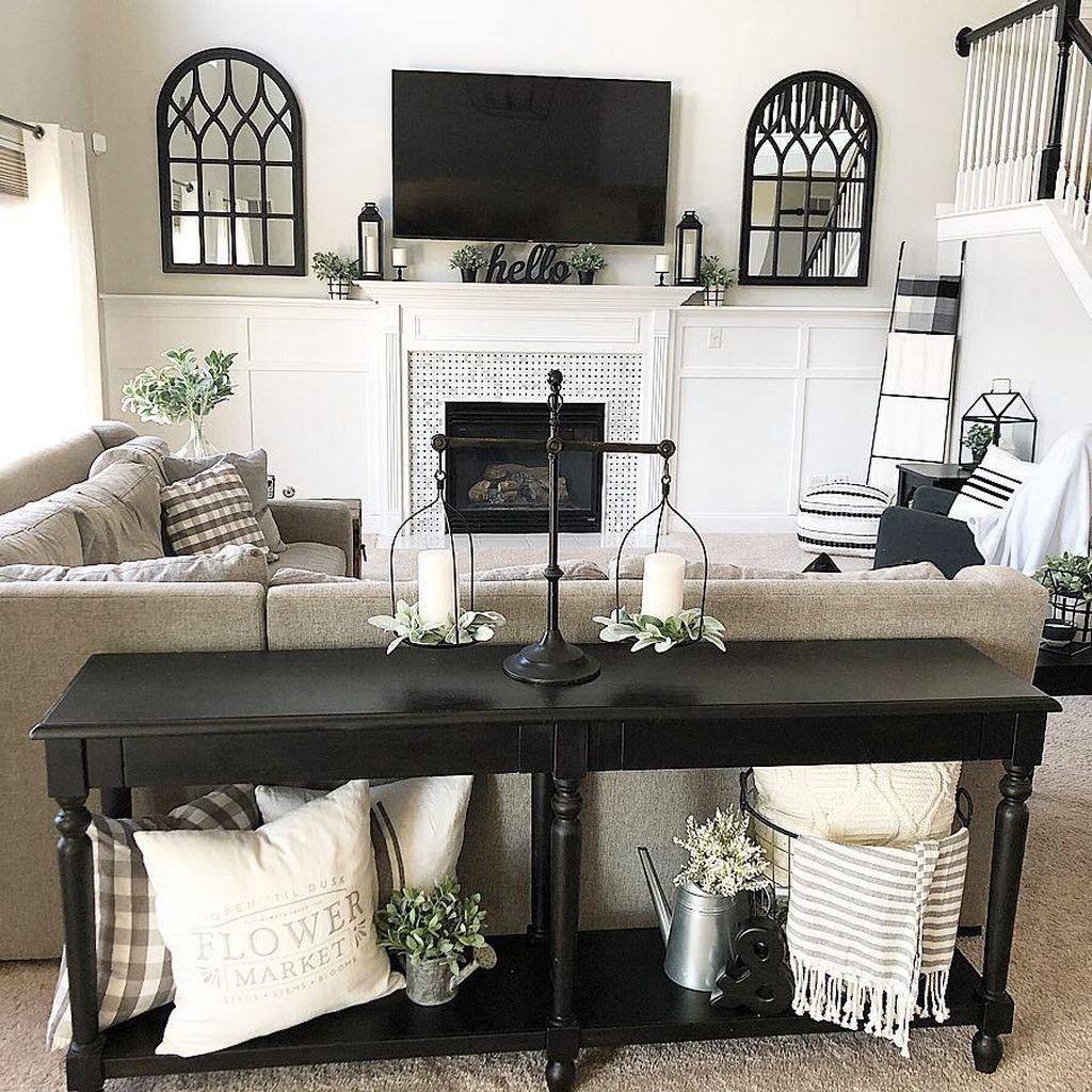 Lovely Modern Farmhouse Living Room Decor Ideas 02