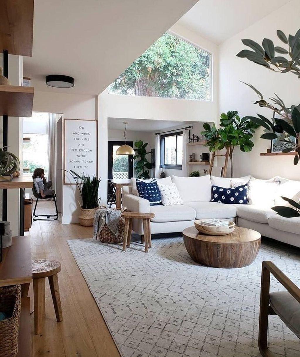 Lovely Modern Farmhouse Living Room Decor Ideas 13