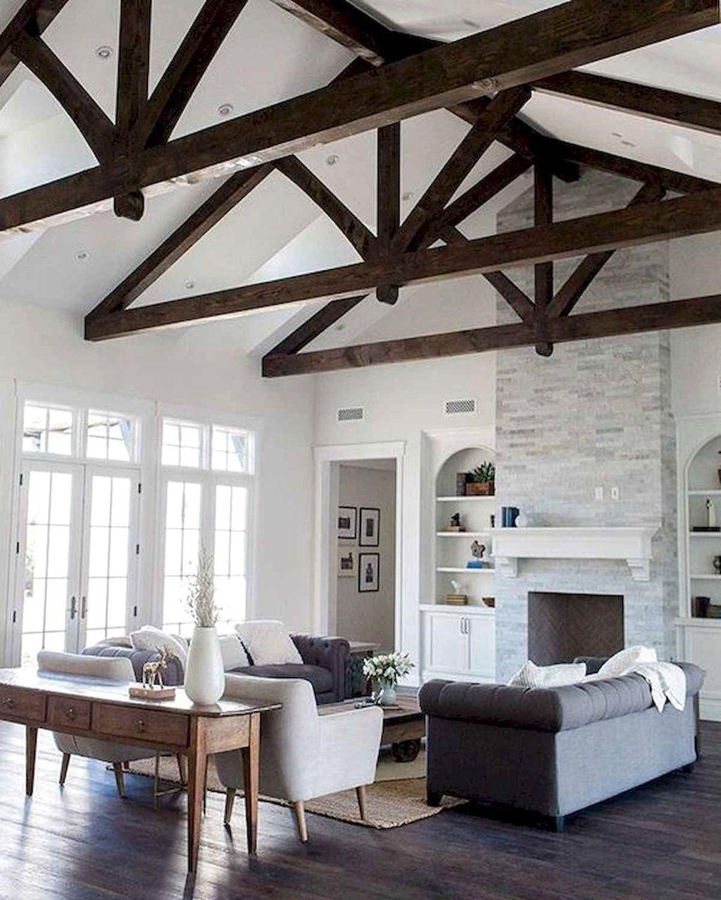 Lovely Modern Farmhouse Living Room Decor Ideas 20