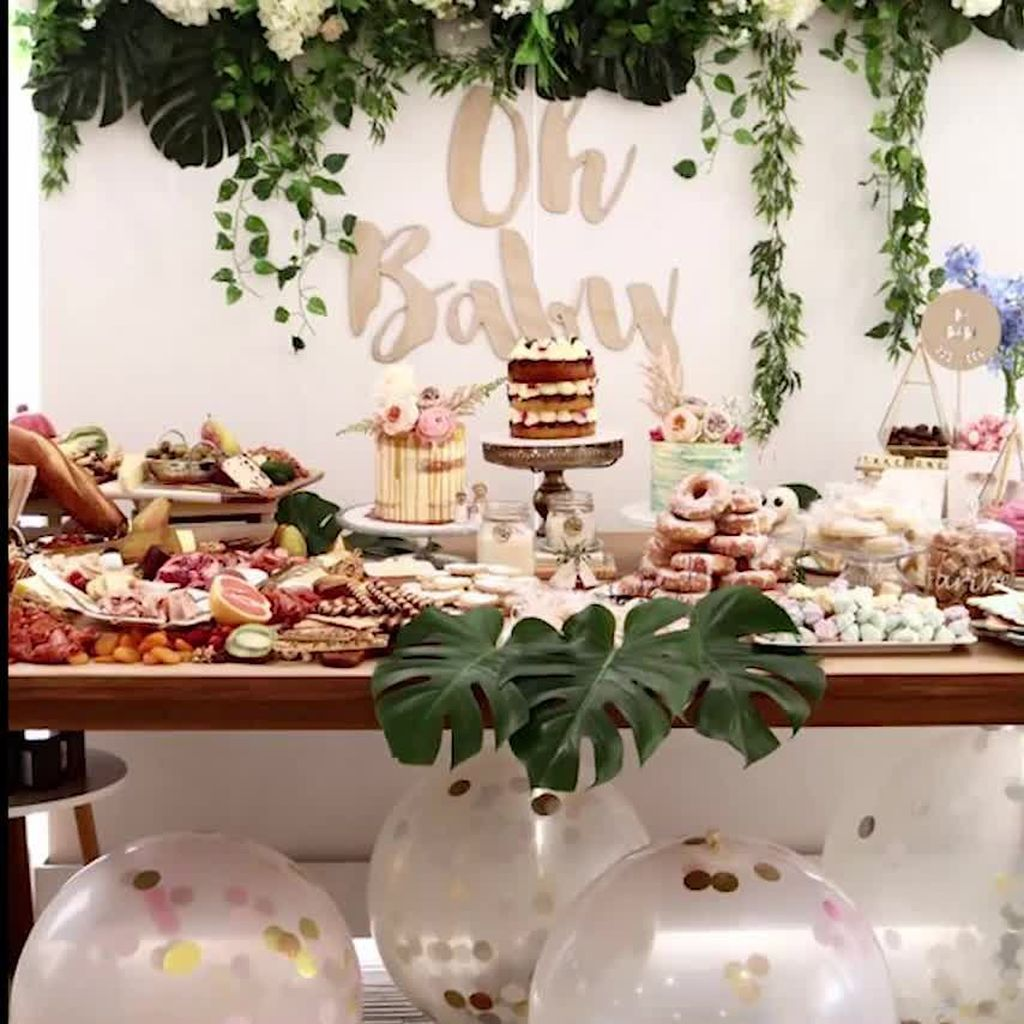 Lovely Spring Baby Shower Themes Decor Ideas 15