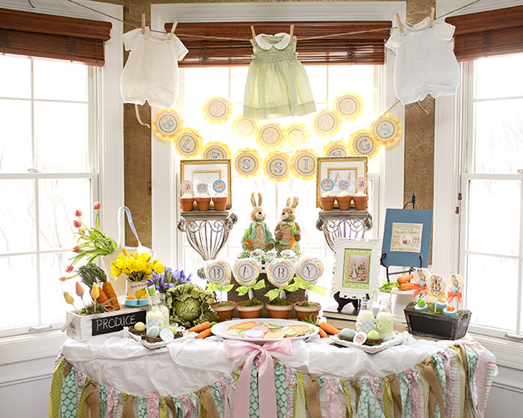 Lovely Spring Baby Shower Themes Decor Ideas 24