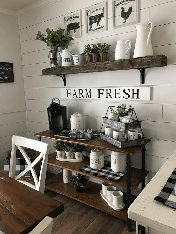 Popular Coffee Bar Ideas For Your Interior Design 07
