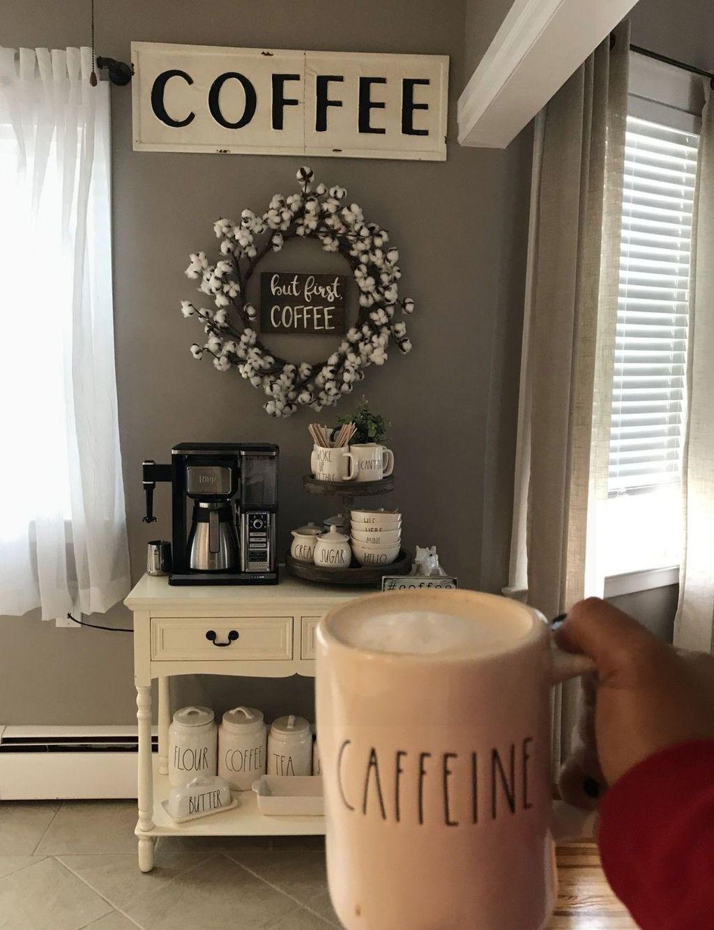 Popular Coffee Bar Ideas For Your Interior Design 26