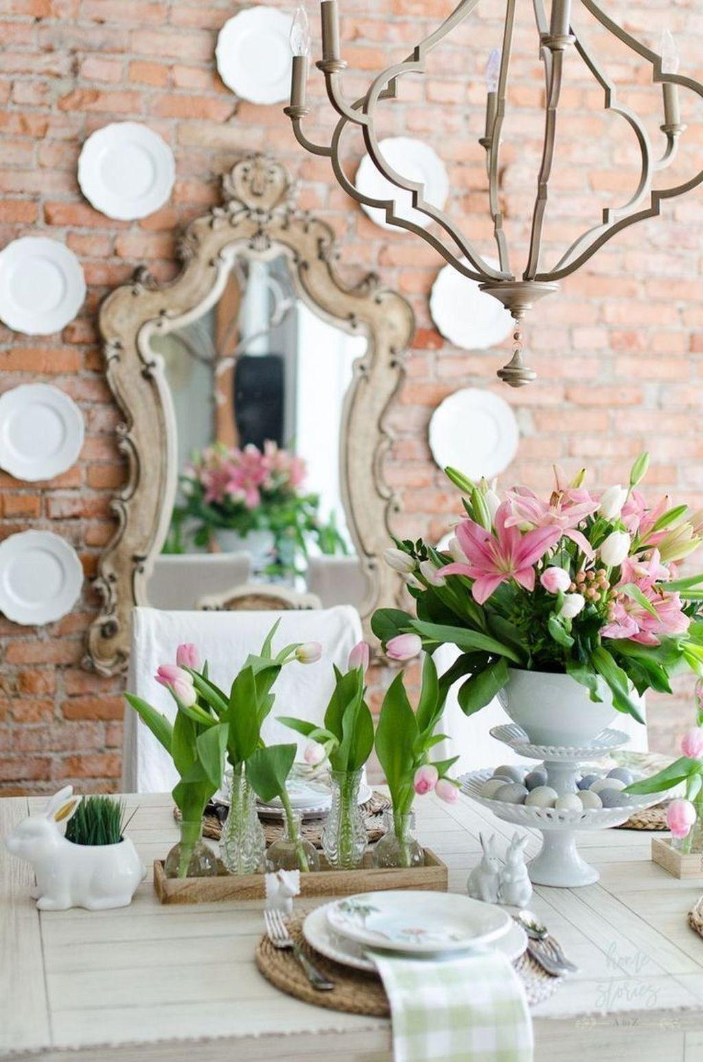 Wonderfull Spring Dining Room Decor Ideas 14