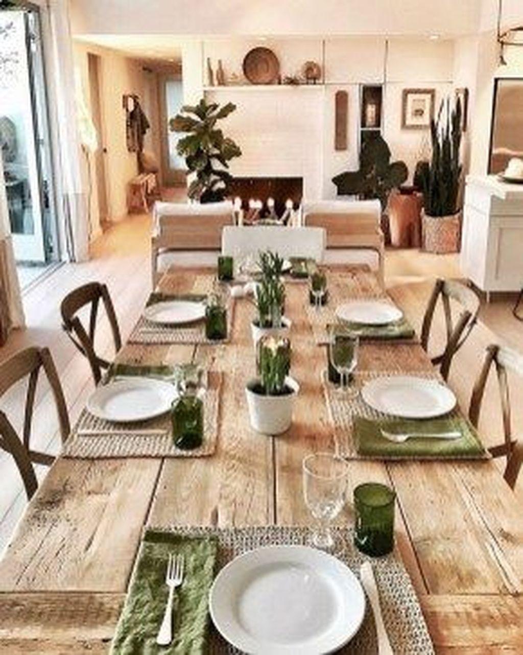Wonderfull Spring Dining Room Decor Ideas 28