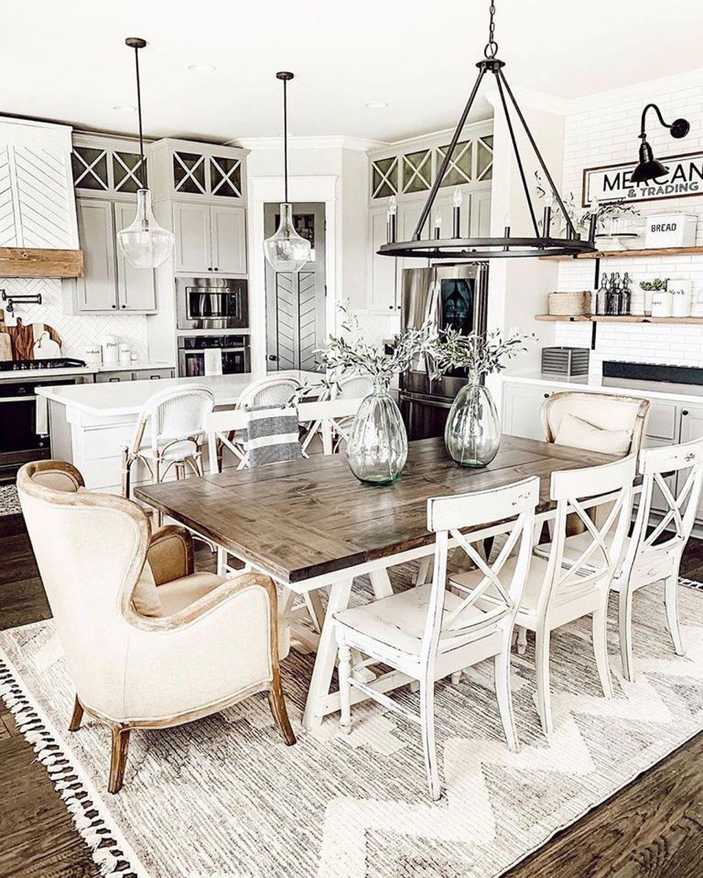 Amazing Farmhouse Dining Room Decor Ideas 11