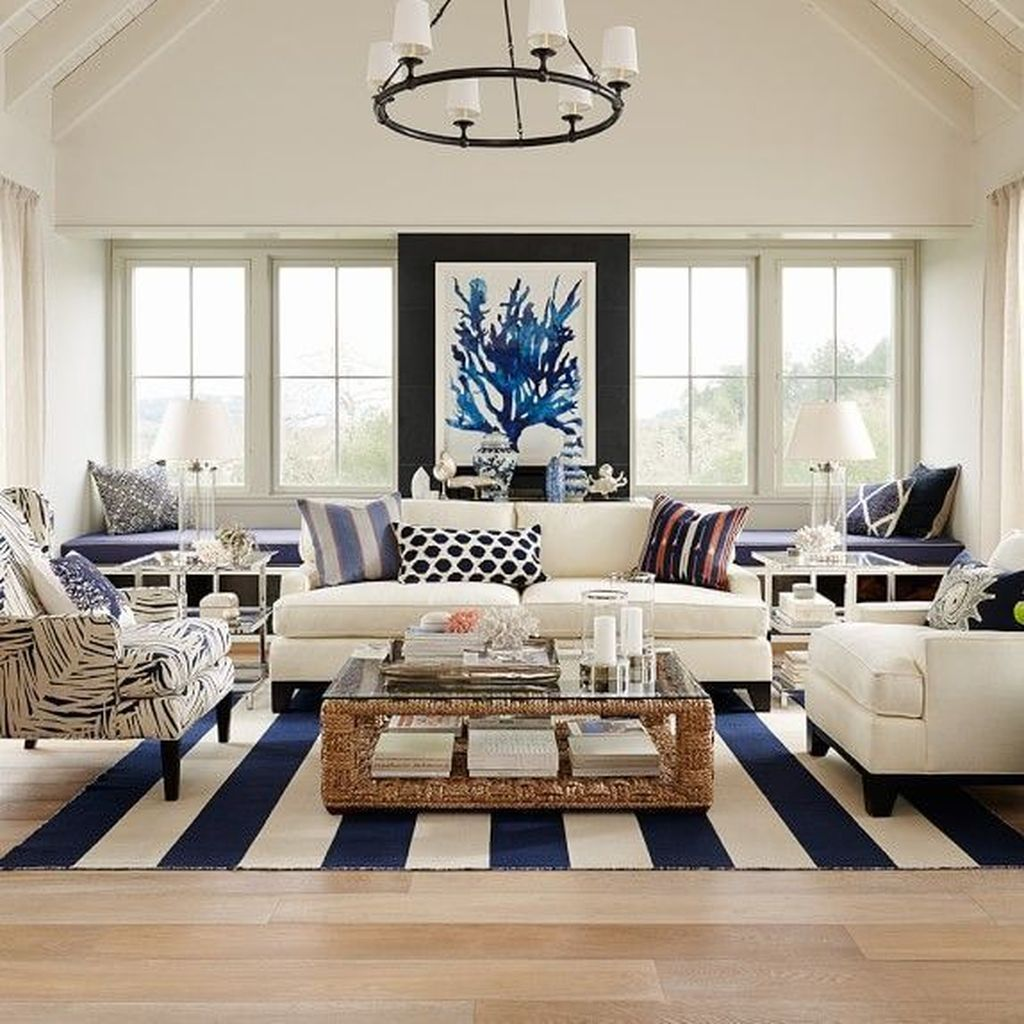Beautiful Coastal Living Room Decor Ideas Best For This Summer 22