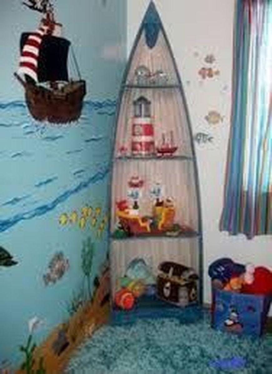 Beautiful Mermaid Theme Bedroom Decor Ideas For Girls 21
