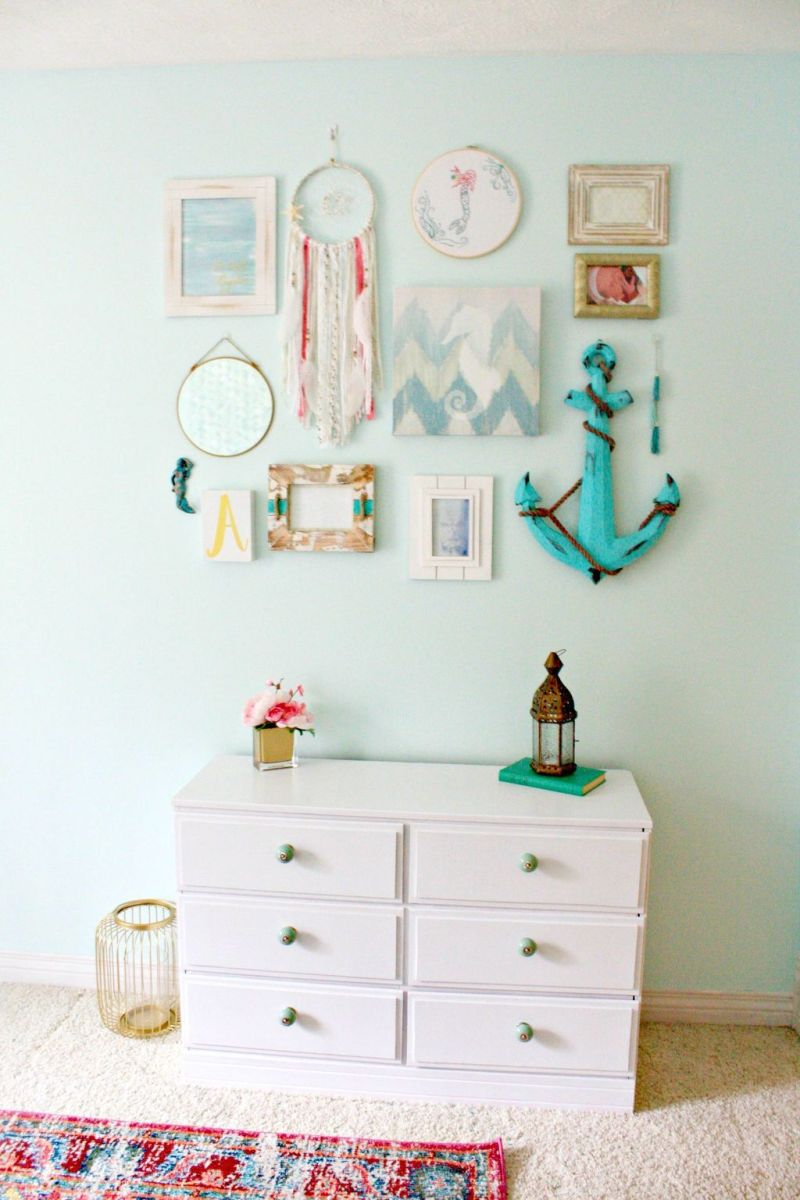 Beautiful Mermaid Theme Bedroom Decor Ideas For Girls 29