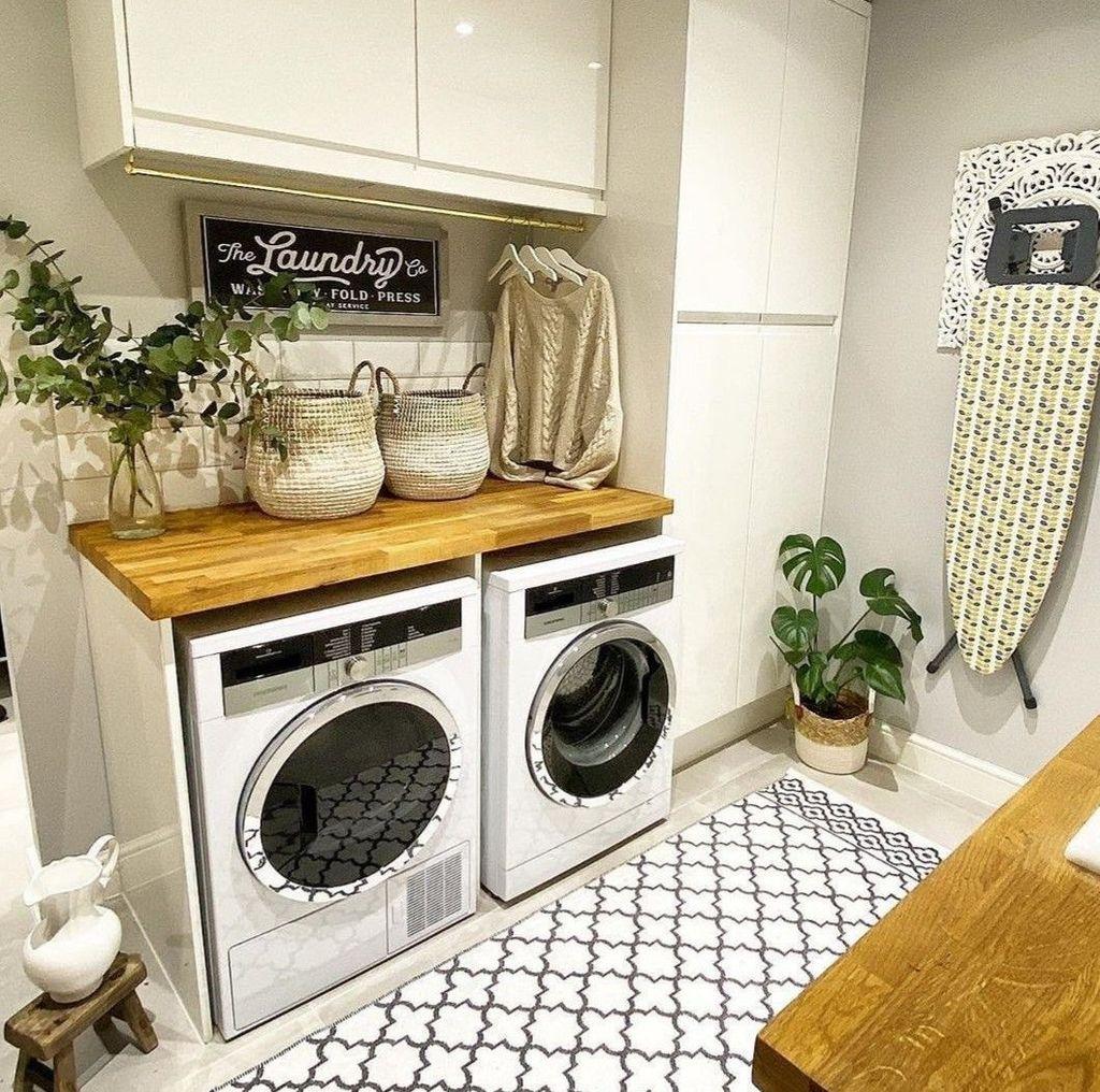Fabulous Scandinavian Laundry Room Design Ideas 32