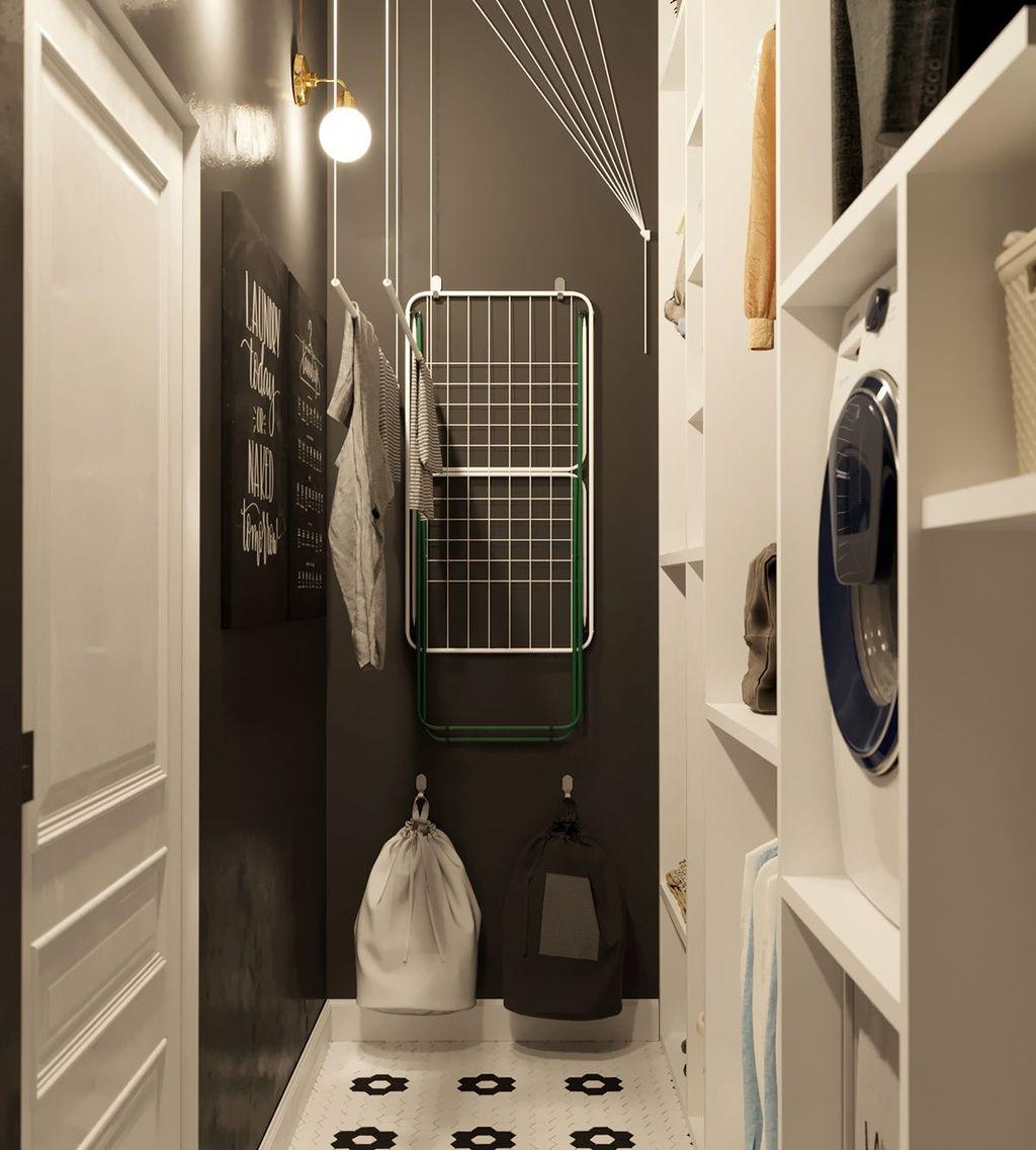 Fabulous Scandinavian Laundry Room Design Ideas 34
