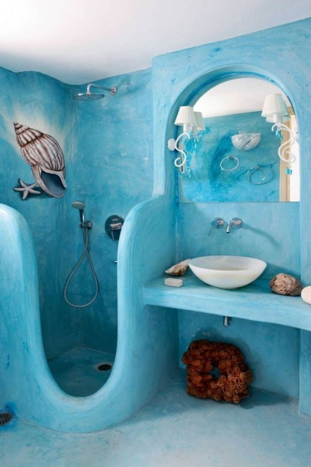 Gorgeous Beach Theme Bathroom Decorating Ideas 34
