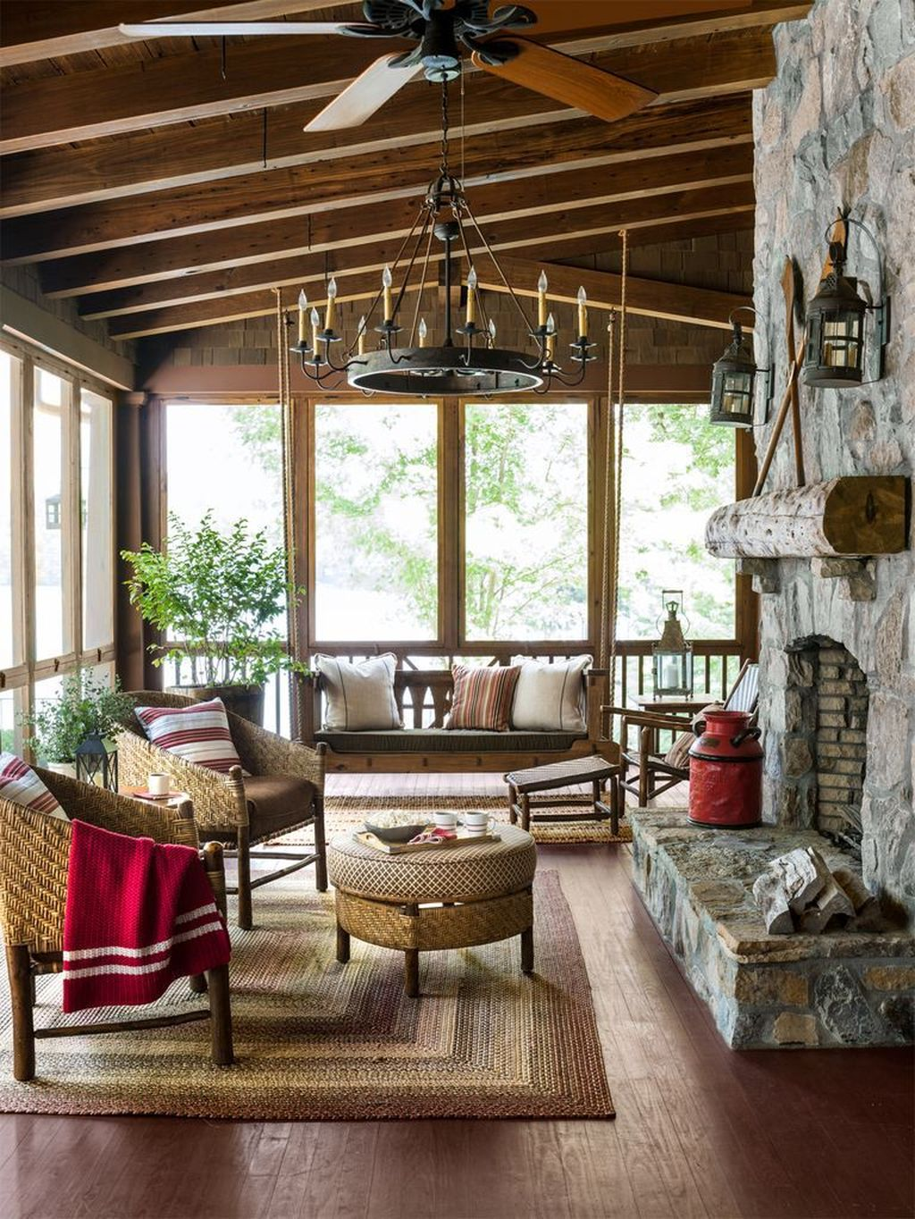 Lovely Rustic Porch Ideas To Beautify Your Home 31
