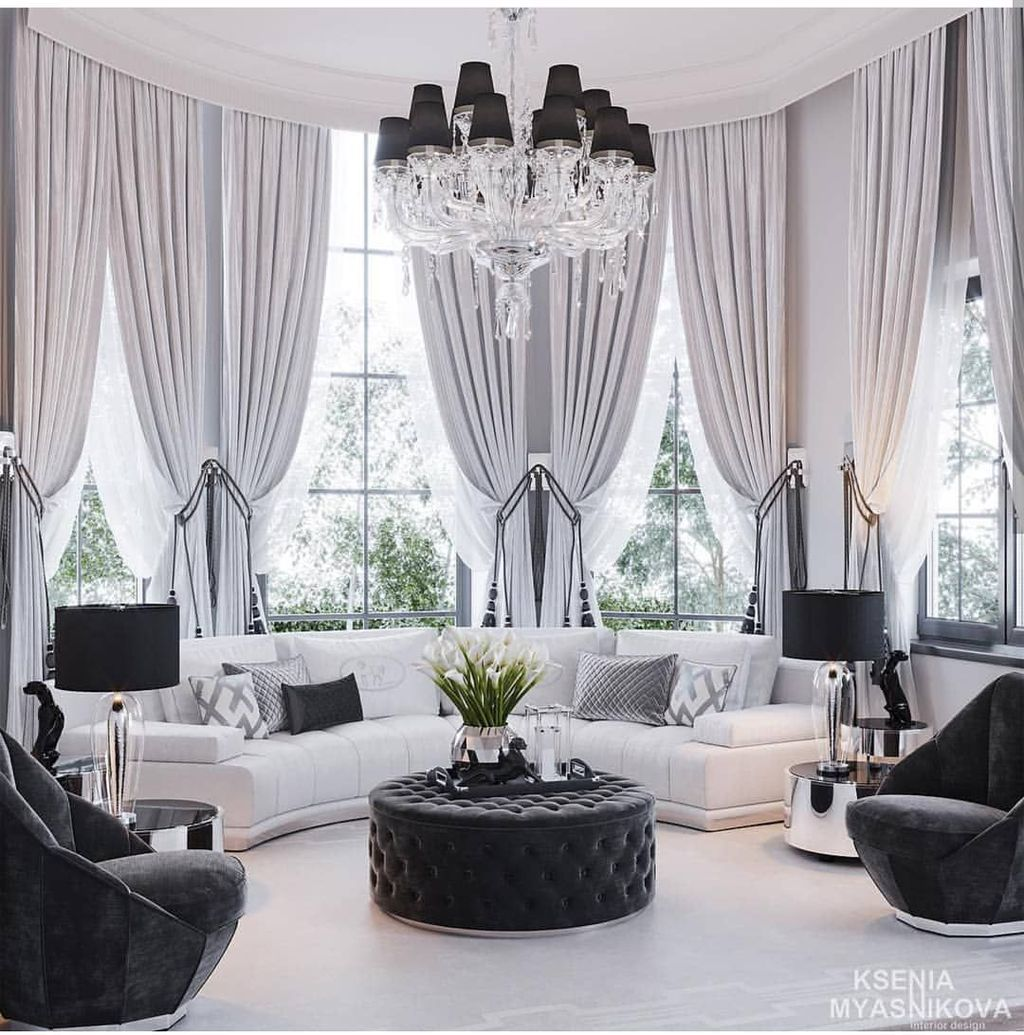 Wonderful Elegant Curtains Ideas For Living Room Decor 11