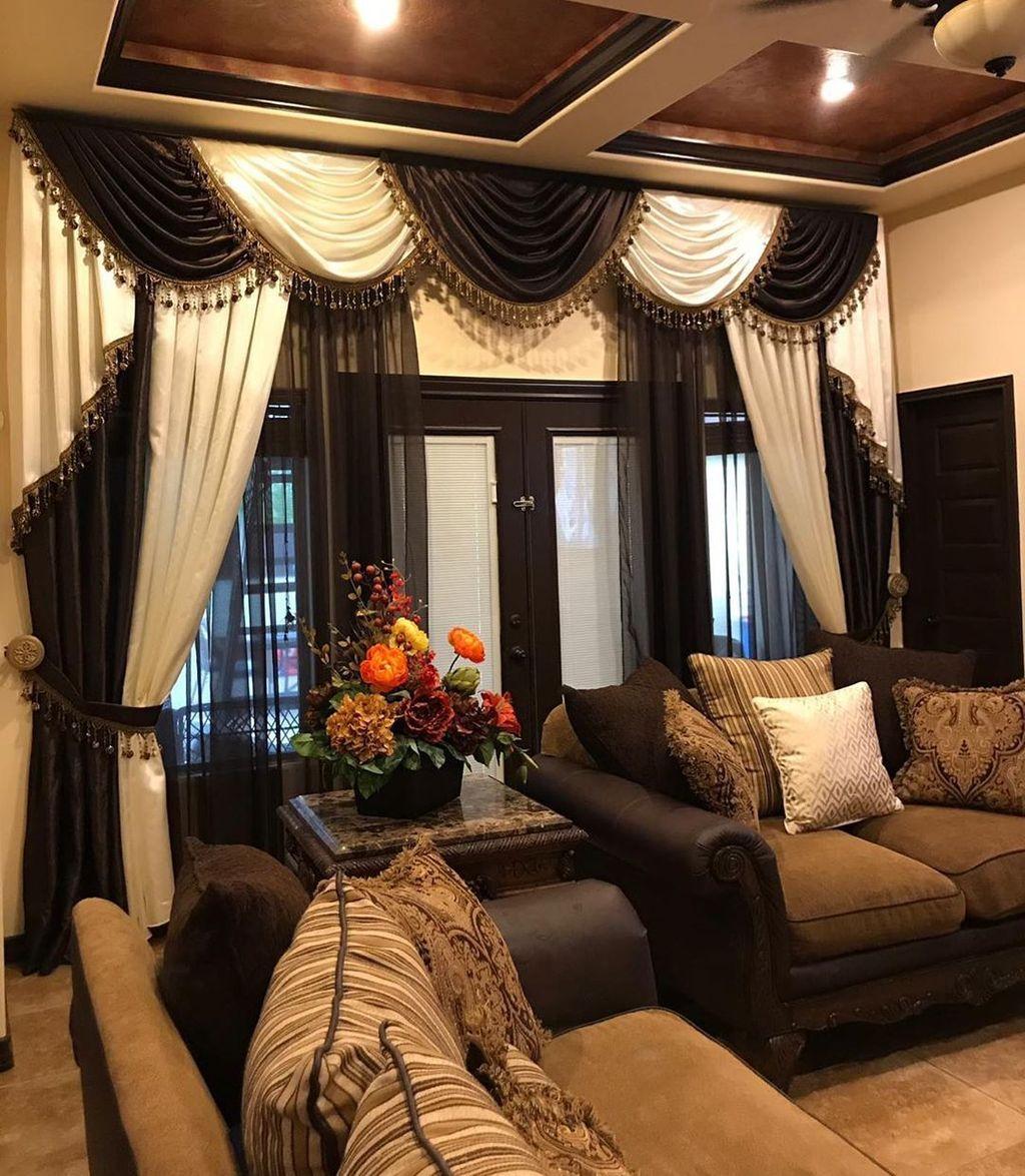Wonderful Elegant Curtains Ideas For Living Room Decor 17