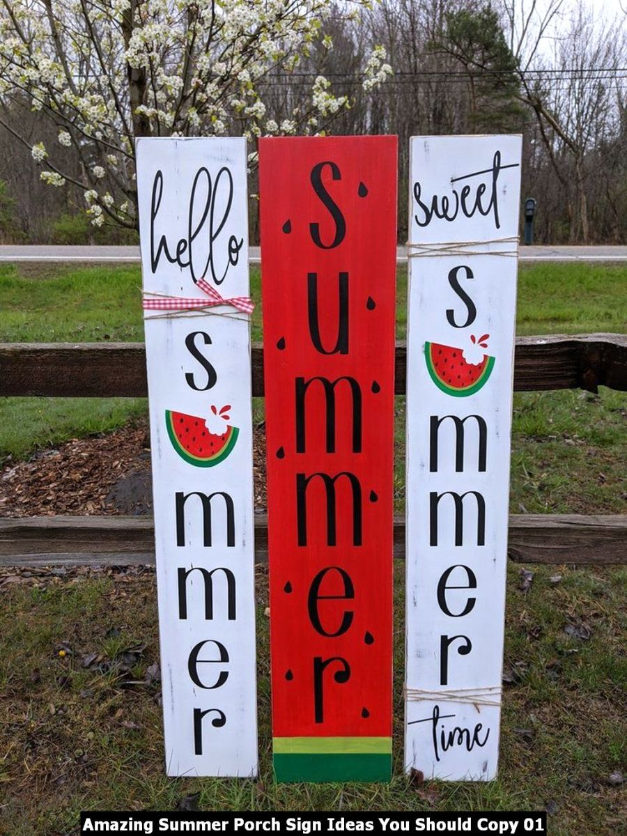 Amazing Summer Porch Sign Ideas You Should Copy 01