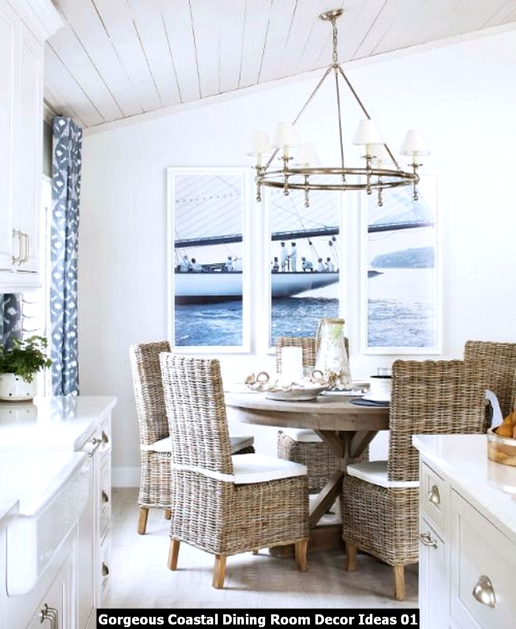 Gorgeous Coastal Dining Room Decor Ideas 01