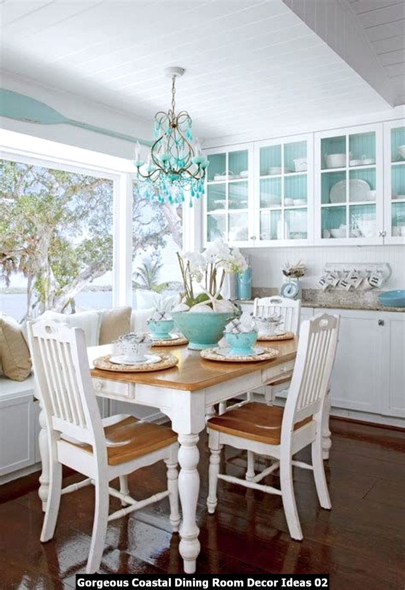 Gorgeous Coastal Dining Room Decor Ideas 02