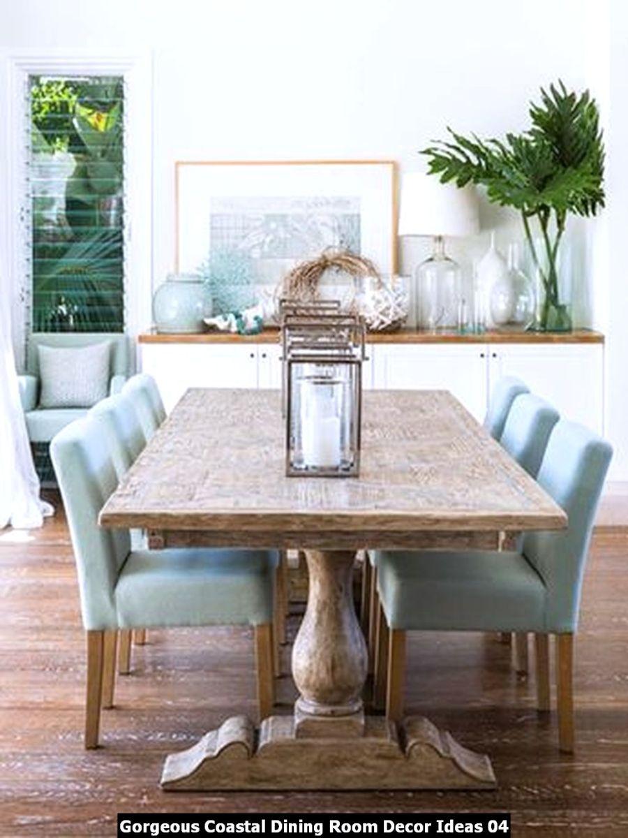Gorgeous Coastal Dining Room Decor Ideas 04
