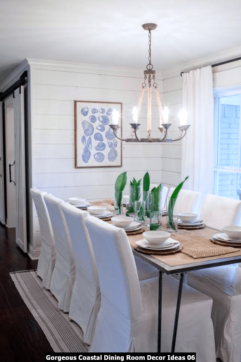 Gorgeous Coastal Dining Room Decor Ideas 06