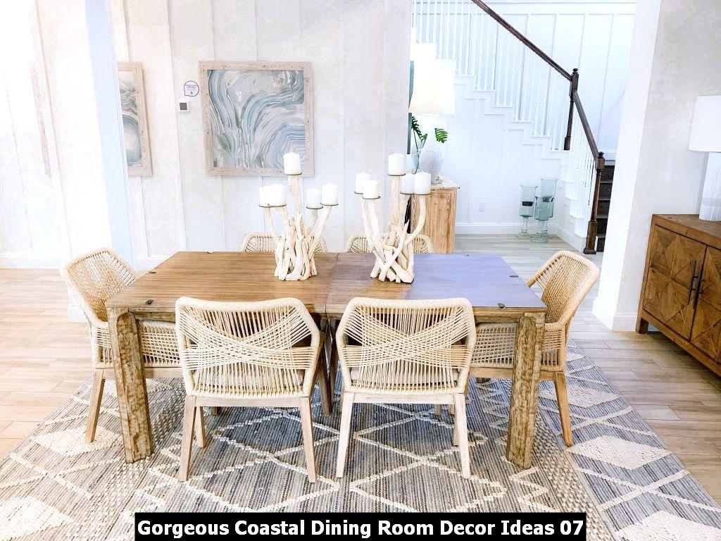 Gorgeous Coastal Dining Room Decor Ideas 07