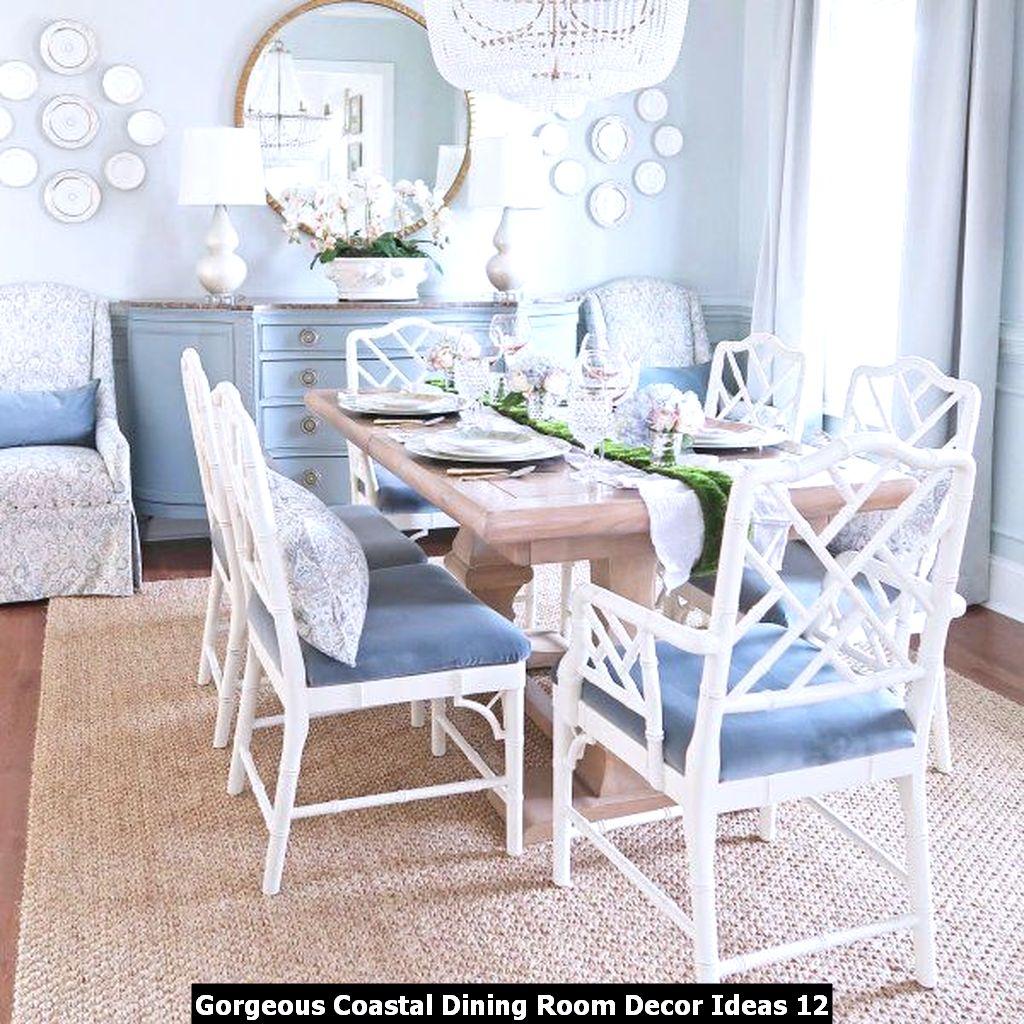 Gorgeous Coastal Dining Room Decor Ideas 12