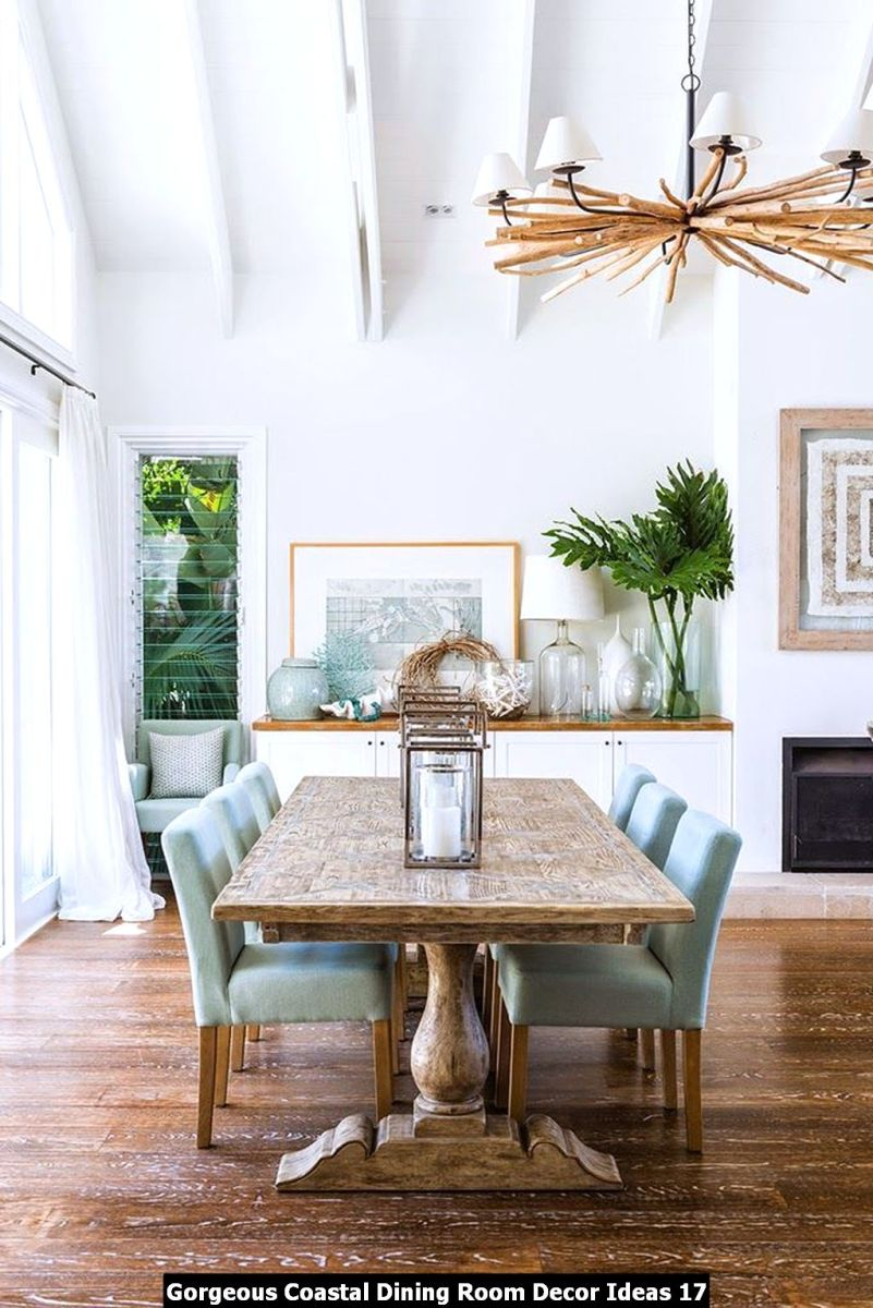 Gorgeous Coastal Dining Room Decor Ideas 17