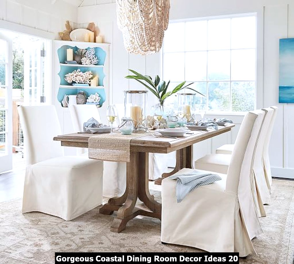 Gorgeous Coastal Dining Room Decor Ideas 20