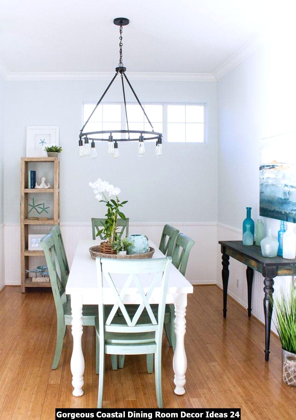 Gorgeous Coastal Dining Room Decor Ideas 24